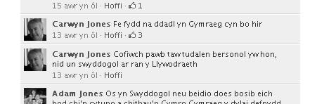 Cofiwch pawb taw tudalen bersonol yw hon, nid un swyddogol ar ran y Llywodraeth